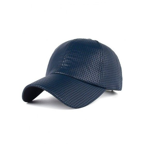 Breathable PU Leather Small Holes Design Baseball Hat ($6.86) ❤ liked on Polyvore featuring accessories, hats, baseball hat, baseball cap, ball cap, baseball caps hats and ball cap hats