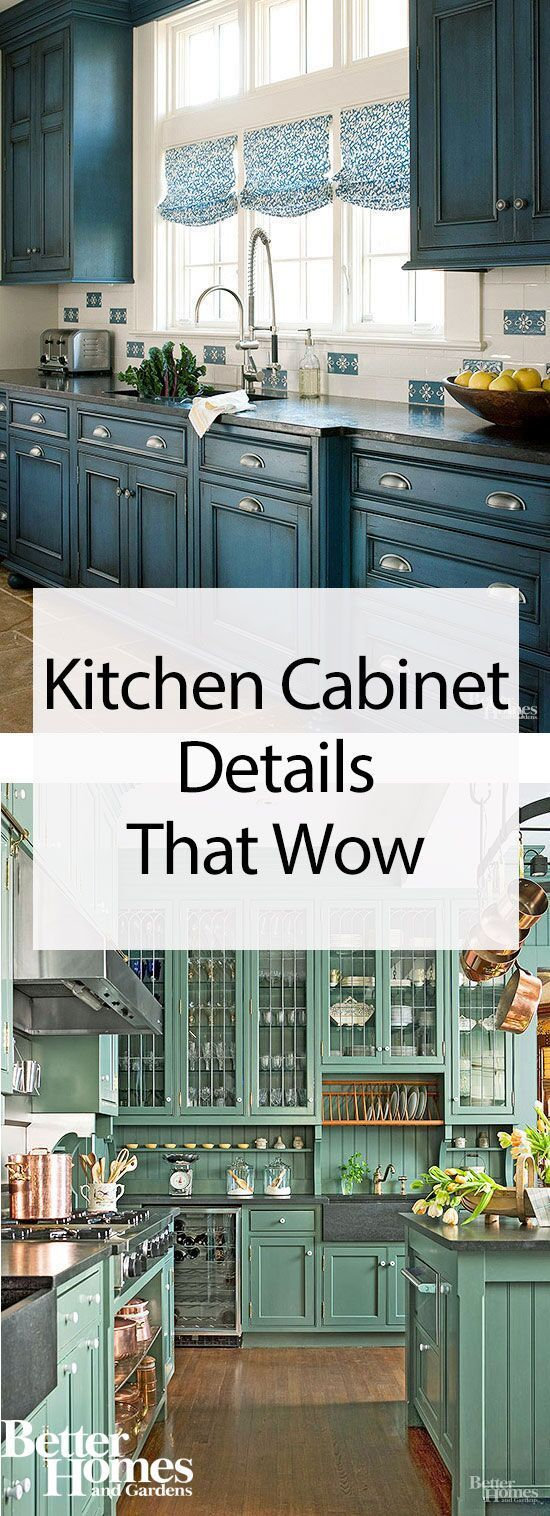 These beautiful kitchen cabinet makeover ideas will help you take your kitchen from boring to stylish via paint, shelf selections, hardware, appliance and countertop materials, finishes, and more. #kitchenmakeover #kitchencabinets #diy