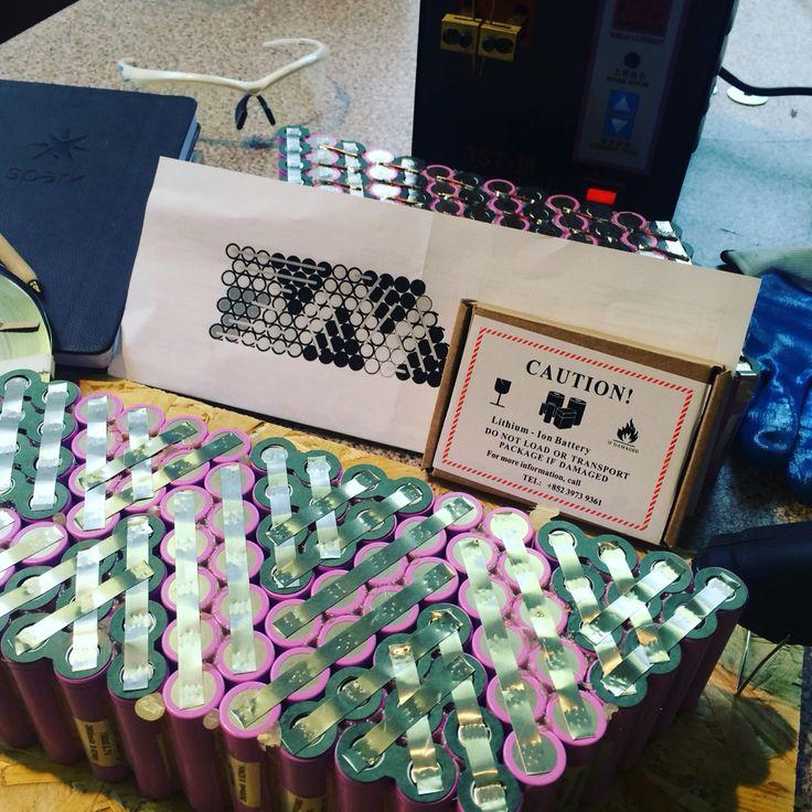 Custom #li-ion battery pack 36V 26Ah 100 #samsung26f cells #18650 #gogreen #electric #tesla #ev