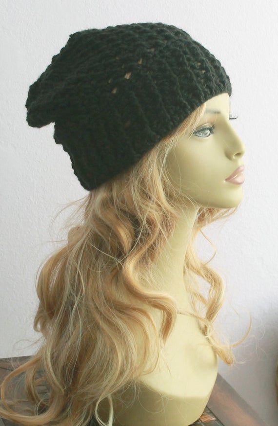 Hippy Wool Slouchy Beanie Hat,Crochet Beanie,Winter Fashion Hat,Best Slouchy Beanie,Beanie Styles,Warmest Beanie,Tam Knit Cap,Boho