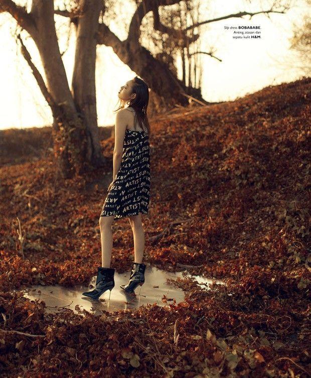 Hwang Gippeum for Grazia Indonesia by Ryan Tandya - Bobababe slip dress
