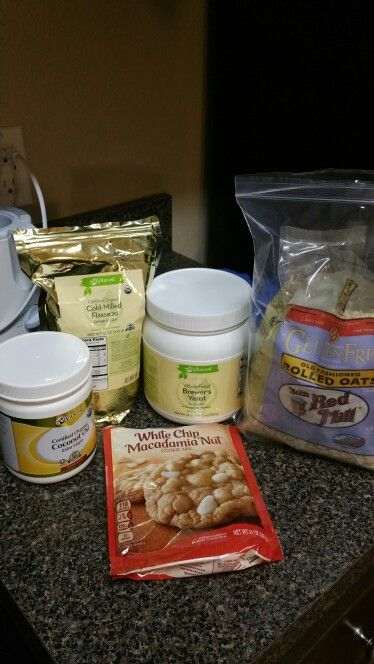 Easy lactation cookies!  1 pkg cookie mix 1 tbsp brewers yeast  1 tbsp ground flax seed 1 cup rolled oats  1/3 cup extra virgin coconut oil 2/3 cup water Mix all ingredients and bake according to the package! Super yummy and healthy:)
