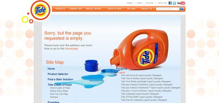 Tide 404 error page