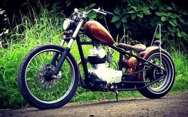 Victorious Custom Works: Kawasaki KZ200 Chopper