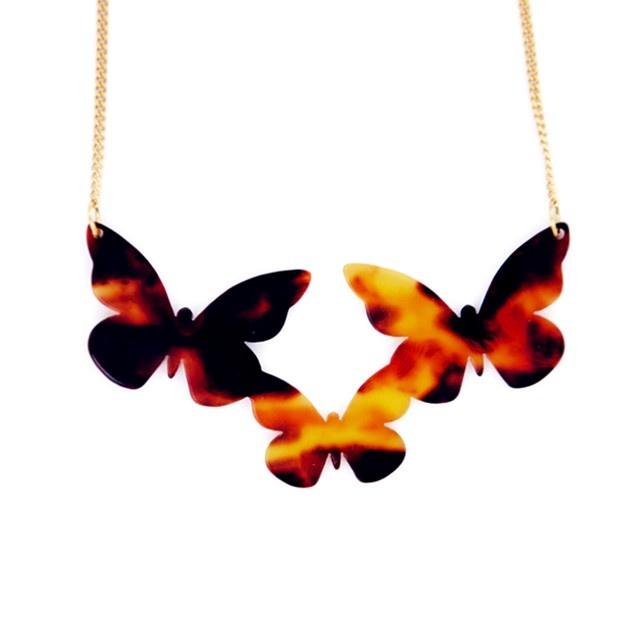 Colgante acetato de celulosa mariposas