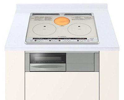 Hitachi IH cooking heater HT-H60S silver width 60 two-burner IH  Rajient... P/O