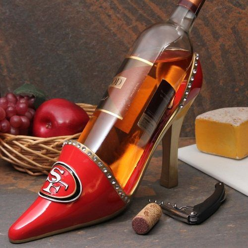 San Francisco 49ers High Heel Shoe Bottle Holder - Scarlet