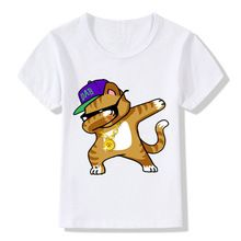 2017 Children Dabbing Unicorn Cartoon T Shirts Kids Summer Tops Girls Boys Short Sleeve T shirt