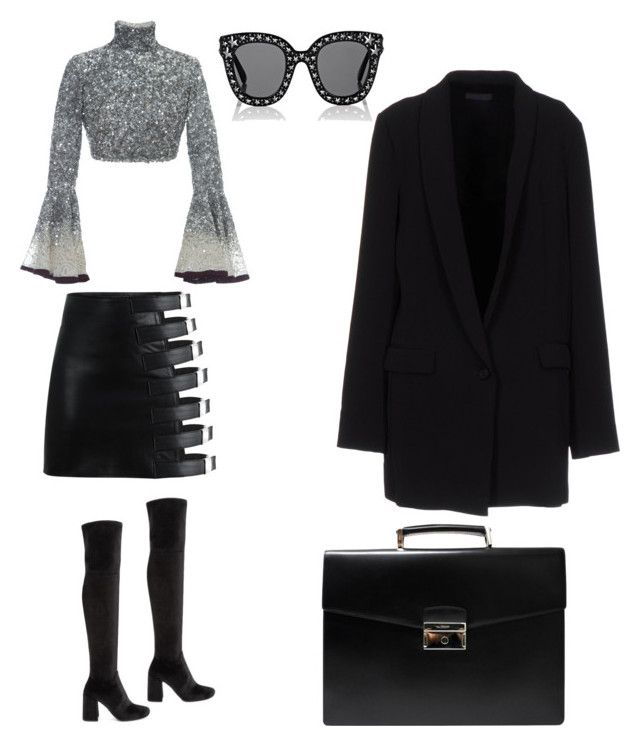 """Untitled #141"" by dariatamasan on Polyvore featuring Hussein Bazaza, Prada, Twin-Set and Gucci"