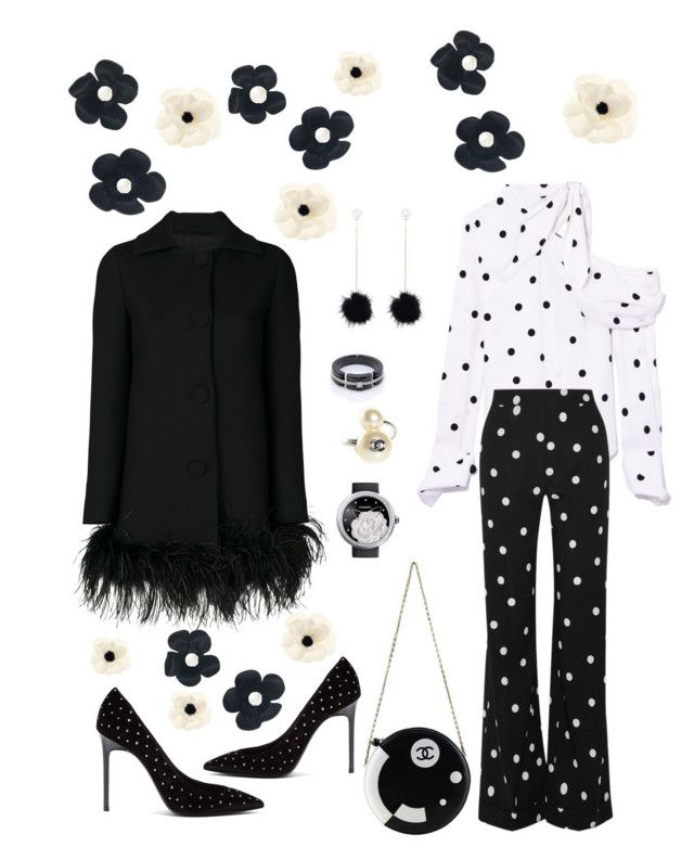 """""""Untitled #821"""" by lianatzelese on Polyvore featuring Monse, Yves Saint Laurent, Chanel, Boutique Moschino and Banana Republic"""