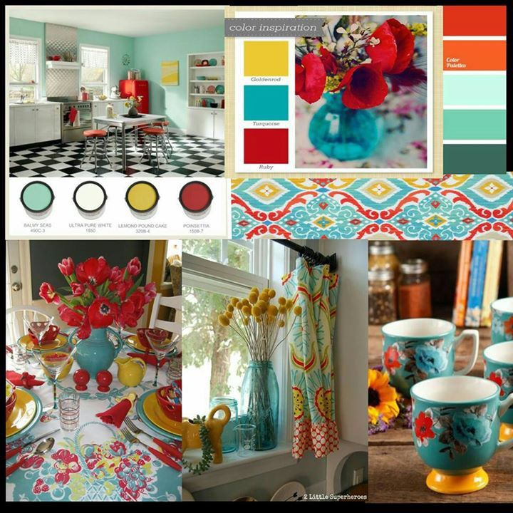 Bedroom Color Palette Ideas: Pioneer Woman Kitchen Decor