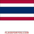 4' x 6' Thailand High Wind, US Made Flag