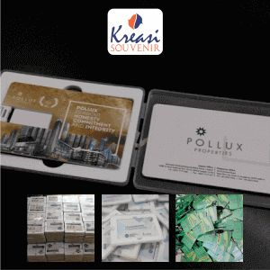 Harga Flashdisk Kartu Custom - Produk Flashdisk Kartu Promosi ini terbuat dari bahan PVC (polyvinyl chloride) sehingga kuat dan tahan lama.