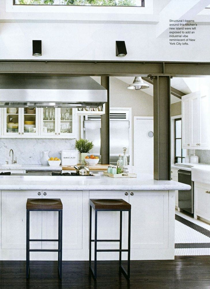 Image result for hidden structural posts kitchen