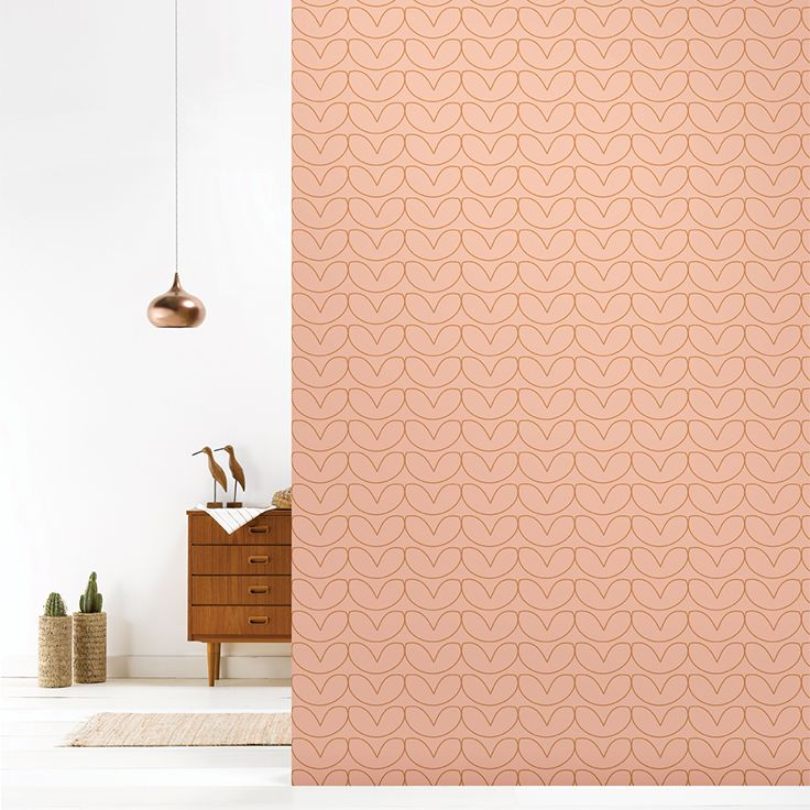 Roomblush behang wallpaper hearts copperblush behangpapier woonkamer slaapkamer interieur design muurdecoratie