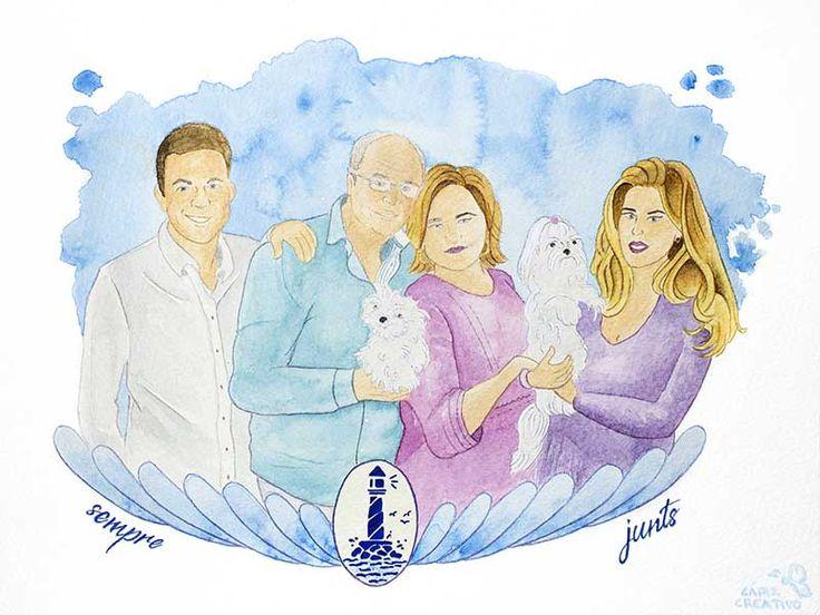 #cuadro de familia realizado en #acuarela