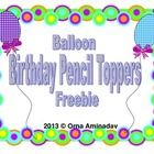 "Here are 10 Balloon Birthday Pencil Toppers. They are all different in color and with the words ""Happy Birthday"" on them. I've put in 2  circles th..."