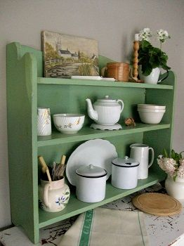 Antique painted shelves from Lavender House Vintage