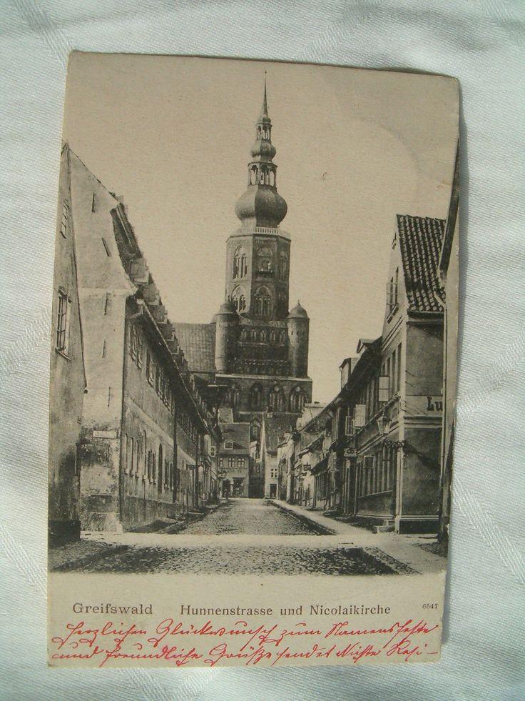 AK von Greifswald - s/w Litho - gelaufen 1903 nach Bayern - sehr gut erhalten!   eBay