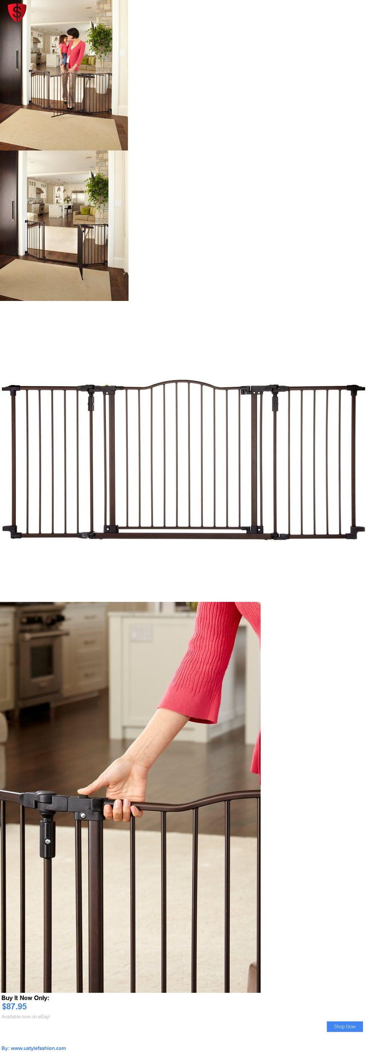 Baby Safety Gates: Metal Baby Gate Safety Walk Pet Child Fence Toddler Infant Step Easy Wide Door BUY IT NOW ONLY: $87.95 #ustylefashionBabySafetyGates OR #ustylefashion
