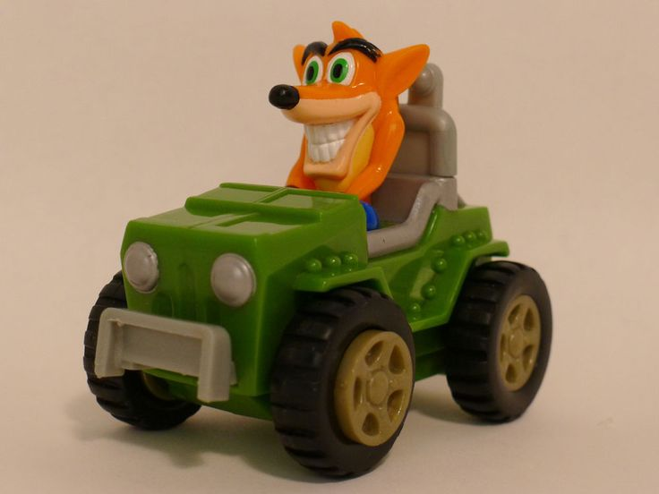 Crash Bandicoot Car Toy 2002 Crash Team Racing Playstation Universal Interactive #UniversalInteractive