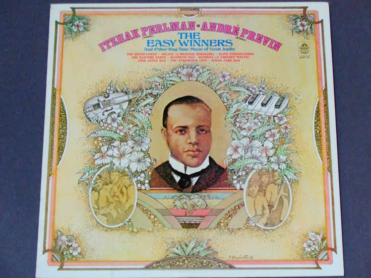 "Itzhak Perlman - Andre Previn - The Easy Winners & Ragtime Music of Scott Joplin - ""The Entertainer"" - Angel 1975 - Vinyl LP Record Album by notesfromtheattic on Etsy"