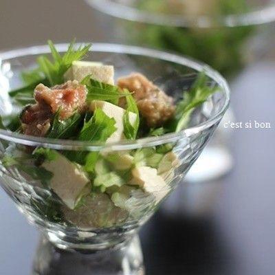 【揚げ物と一緒に♪】梅×水菜の「さっぱり副菜」が箸休めにぴったり!