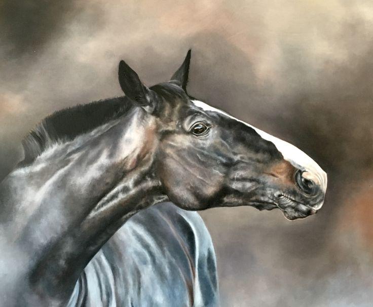 Newton Horse oil painting by Katarzyna Staefanowicz
