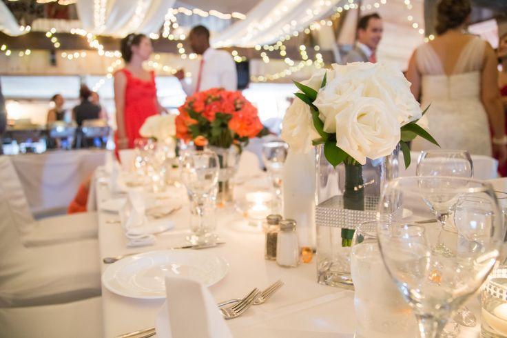 Wedding Supper Decor at La Grange Rouge. Super Classy Style.