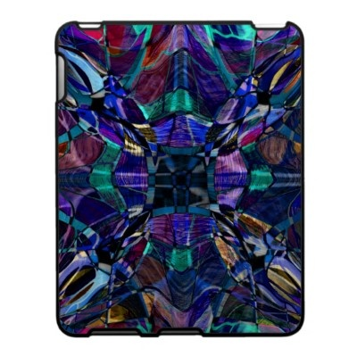 Blue Kaleidoscope Fractal Ipad Skin $56.20