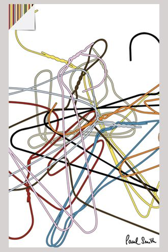 London underground poster paul smith fashion week 2009 - looks like coat hangers!