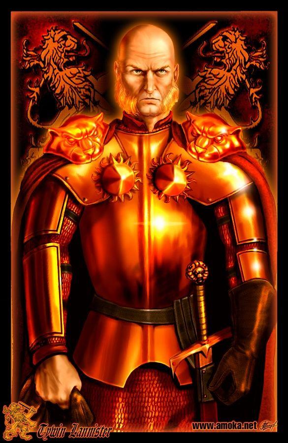 Tywin Lannister - Senhor de Rochedo Casterly, Escudo de Lannisporto, Protetor do Oeste e, durante um bom tempo Mão do Rei. Calculista e muitas vezes cruel, Tywin é um dos senhores mais poderosos nos 7 Reinos. Durante a Rebelião de Robert, Tywin se manteve sem aderir nenhum lado. Mas, após a vitória de Robert no Tridente, ele marchou para Porto Real onde deu ordens para matar a esposa e filhos de Rhaegar. Tywin enrolou os corpos com mantos Lannister e os apresentou a Robert em sinal de…