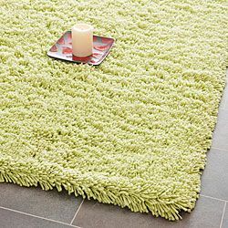 Hand-woven Bliss Lime Green Shag Rug (8'6 x 11'6) | Overstock.com Shopping - Great Deals on Safavieh 7x9 - 10x14 Rugs