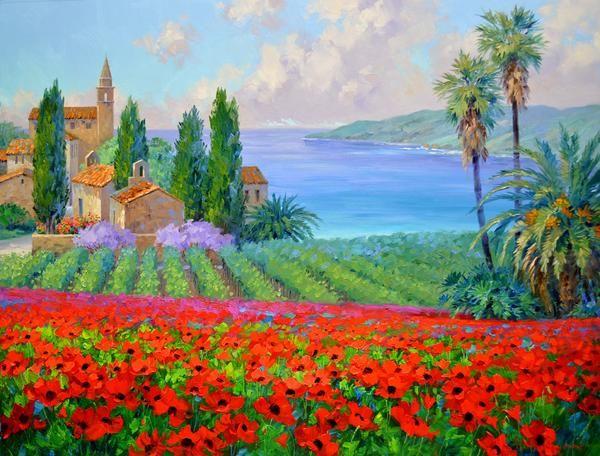 Spring S Embrace 38x48 Original Painting Landscape Art Large Painting