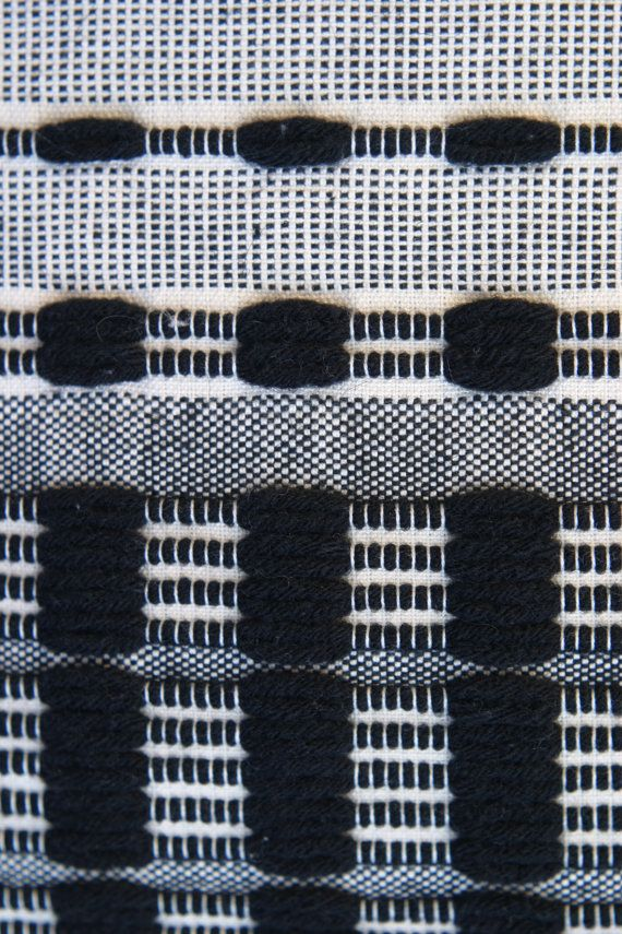 Monochrome Weave - woven fabric detail inspired by rhythmic patterns; modern weaving // Julia Astreou #textiles