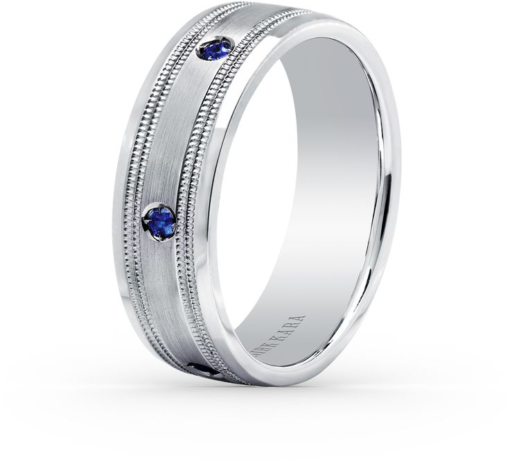 Best Comfort fit mm gentlemen us wedding band from the Artin collection with ctw of blue sapphires The signature handcrafted details include satin finish and