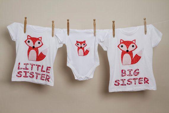 Big Sister fox t shirt big sister fox shirt by SarahSewsIt on Etsy