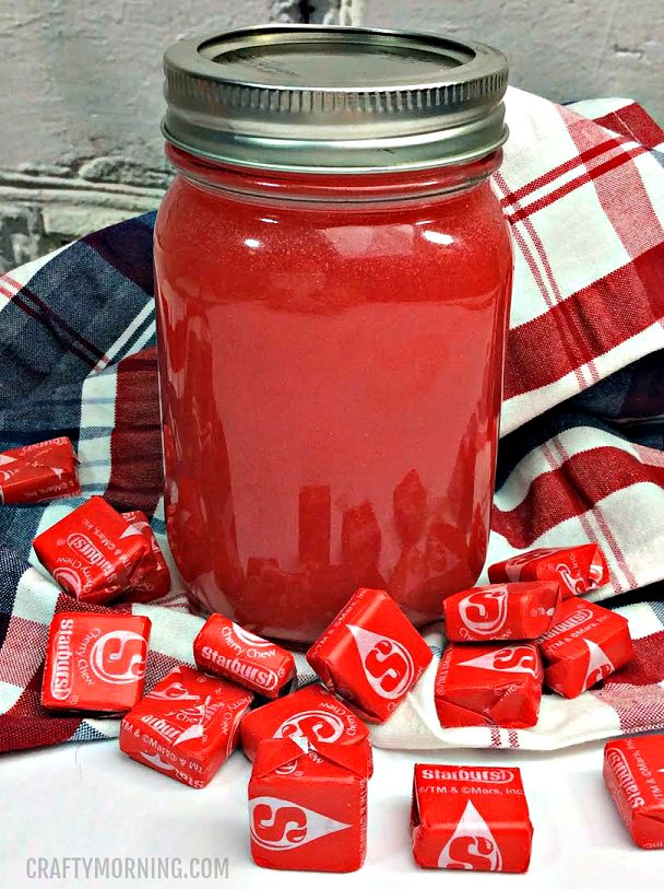 This moonshine recipe is sooo good! If you love starbursts, this one is for you. Perfect for summer BBQs! Ingredients: 10 Red starburst, unwrapped 1 large mason jar 1 bottle of everclear 141 ABV 1 mason jar 1 TBSP grenadine 1/3 tube of edible pearl dust Directions  Add the starburst into the mason jar Fill …