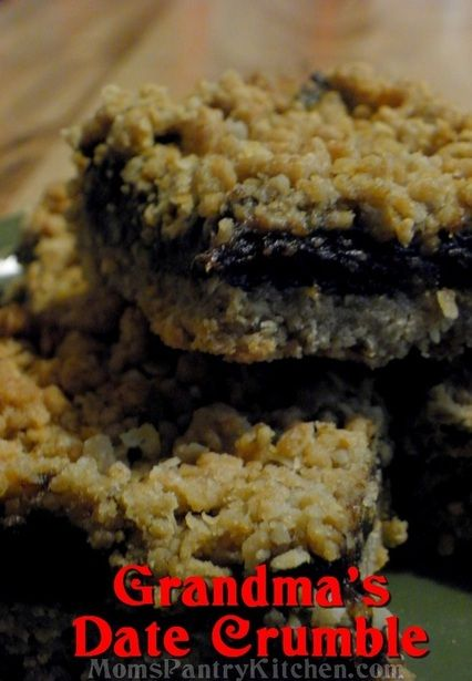 ... about Date Squares on Pinterest | Newfoundland, Easy date and Classic