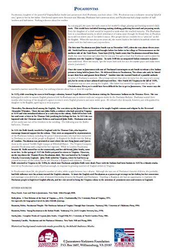 american history pocahontas essay Pocahontas and the powhatan dilemma includes copious endnotes and a short bibliographical essay that will lead you to  in early colonial american history.