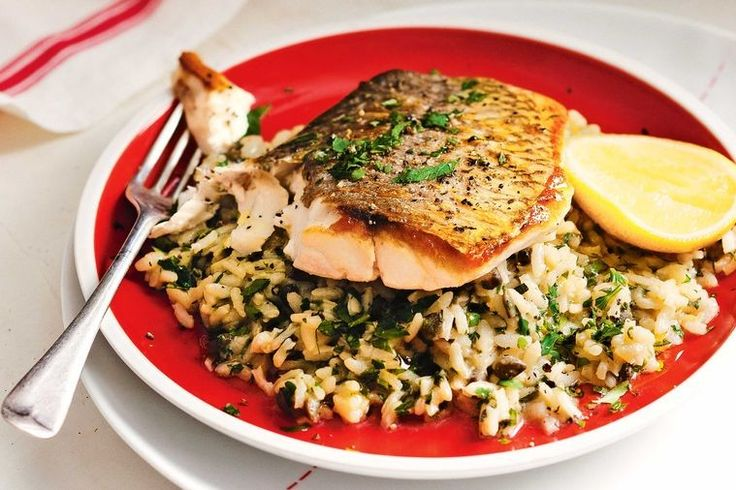 Crispy snapper and risotto is perfect for weeknight dinners.