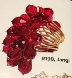 Jangi flower ring featured in the Cosmopolitan SA magazine Sept 2012