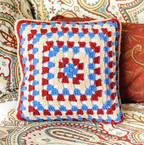Granny Crochet Pillow Patterns : sewing pattern for square pillow  - pillowsntoast.com