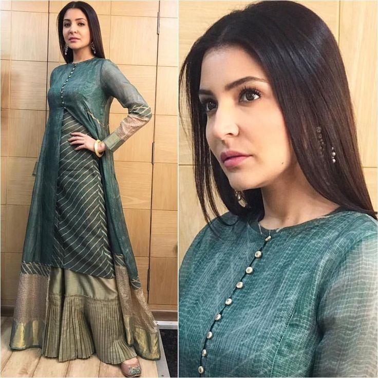 "19.1k Likes, 57 Comments - A Fashionista's Diary (@afashionistasdiaries) on Instagram: ""@anushkasharma  Outfit - @urvashikaur  Earrings - @purabpaschim  Bangle - @curiocottagejewelry…"""