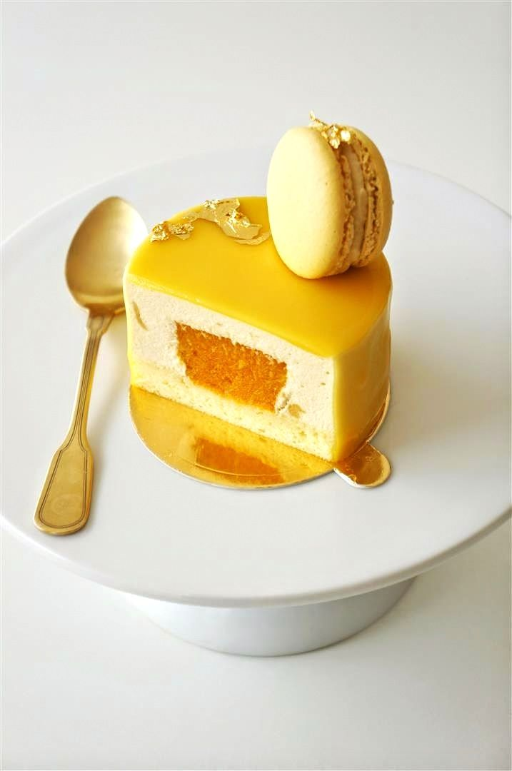 Mango Bliss (Mango Puree, Mango Jelly, Sponge, Mango Glaze & Mango Bavarian Cream)