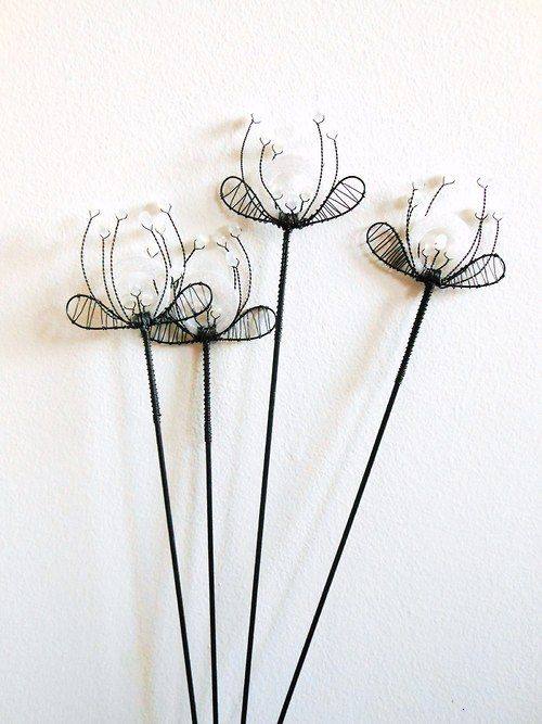 164 Best Images About Wire Art Flowers On Pinterest