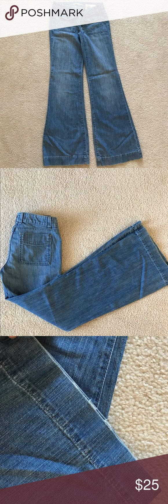 Gap trouser jeans-size 4 Excellent condition. VERY minor fraying on one leg. These are limited edition 1969 jeans. Trouser/flare. Super flattering on. GAP Jeans Flare & Wide Leg