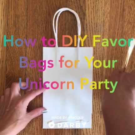 Easy DIY Unicorn Party Favor Bags #unicornparty #kidsparty #kidsbirthday