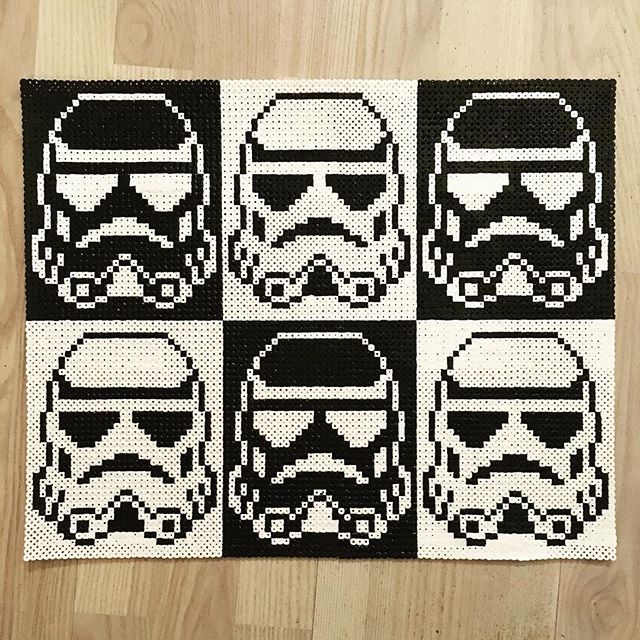 Stormtroopers Star Wars Hama Beads By Pixtille Diy
