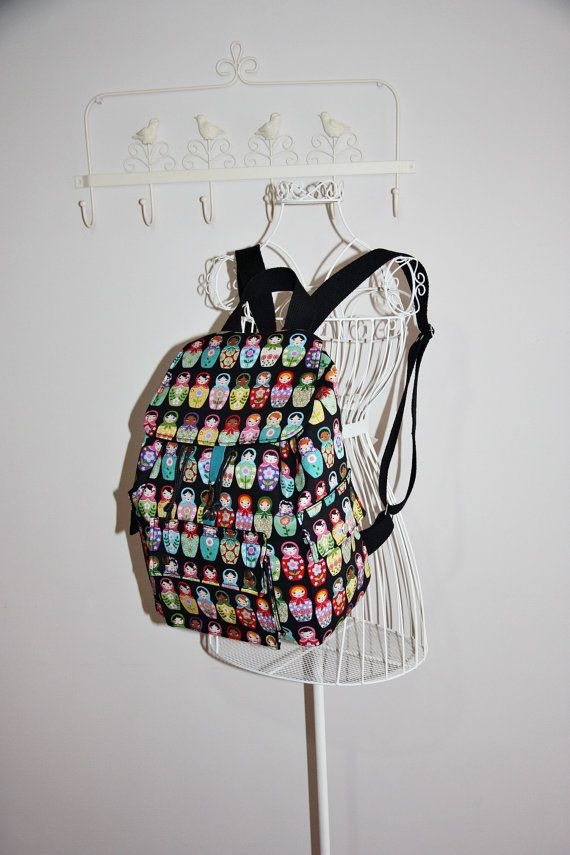 Check out this item in my Etsy shop https://www.etsy.com/listing/174750531/retro-matrioshka-backpack